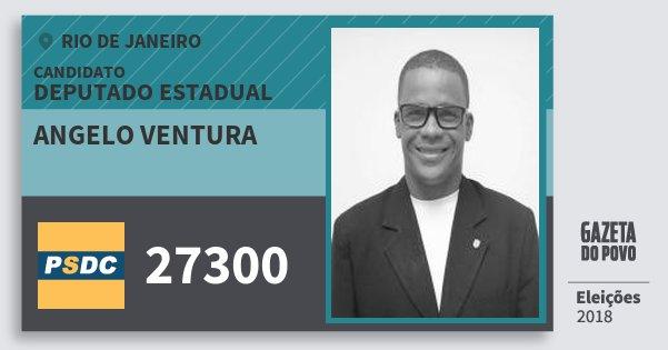 Santinho Angelo Ventura 27300 (DC) Deputado Estadual | Rio de Janeiro | Eleições 2018