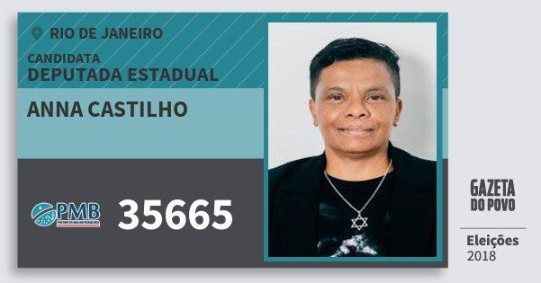 Santinho Anna Castilho 35665 (PMB) Deputada Estadual | Rio de Janeiro | Eleições 2018