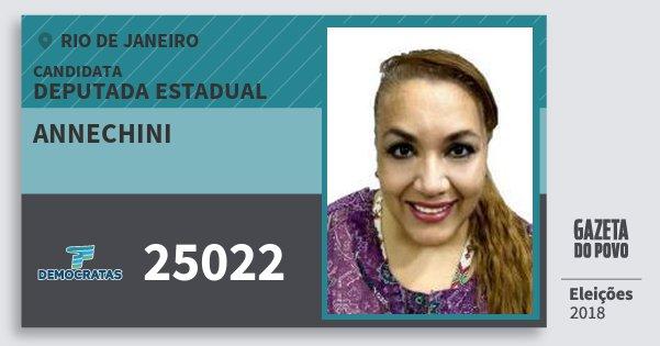 Santinho Annechini 25022 (DEM) Deputada Estadual | Rio de Janeiro | Eleições 2018