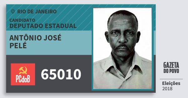 Santinho Antônio José Pelé 65010 (PC do B) Deputado Estadual | Rio de Janeiro | Eleições 2018