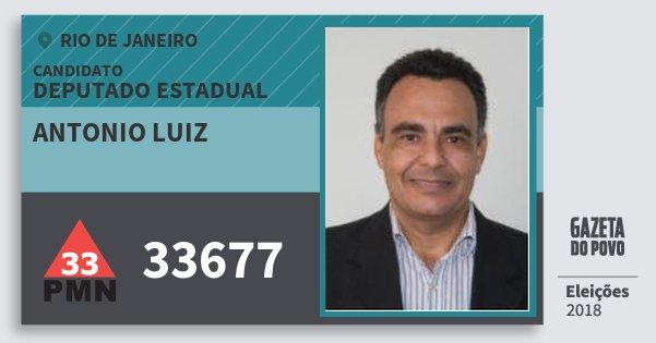 Santinho Antonio Luiz 33677 (PMN) Deputado Estadual | Rio de Janeiro | Eleições 2018