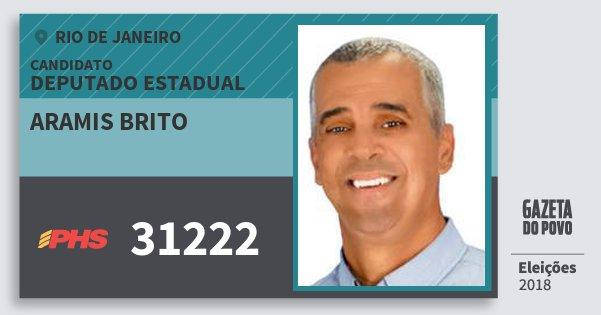 Santinho Aramis Brito 31222 (PHS) Deputado Estadual | Rio de Janeiro | Eleições 2018