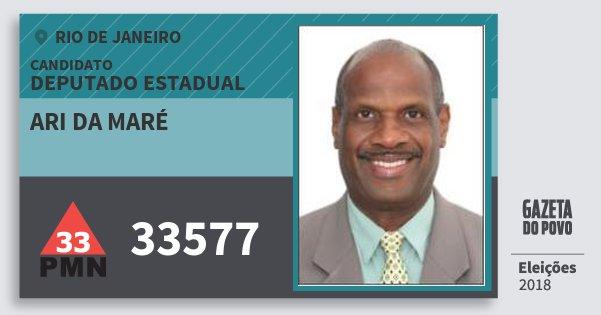 Santinho Ari da Maré 33577 (PMN) Deputado Estadual | Rio de Janeiro | Eleições 2018