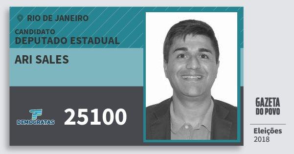 Santinho Ari Sales 25100 (DEM) Deputado Estadual | Rio de Janeiro | Eleições 2018