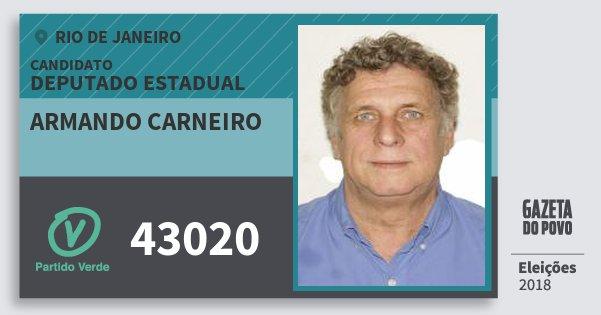 Santinho Armando Carneiro 43020 (PV) Deputado Estadual | Rio de Janeiro | Eleições 2018