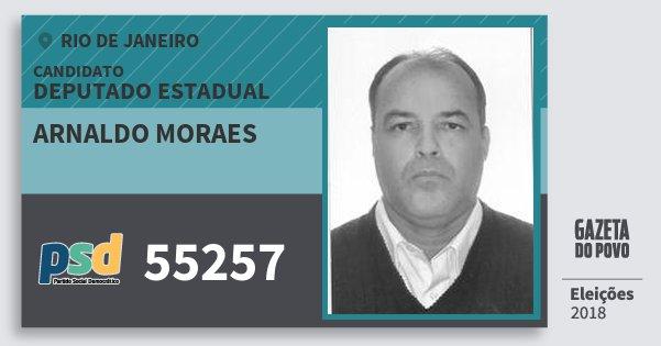 Santinho Arnaldo Moraes 55257 (PSD) Deputado Estadual | Rio de Janeiro | Eleições 2018