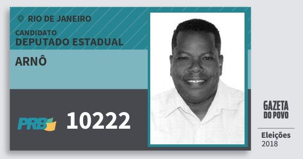 Santinho Arnô 10222 (PRB) Deputado Estadual | Rio de Janeiro | Eleições 2018