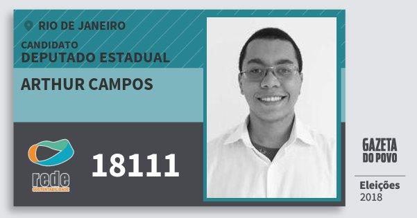 Santinho Arthur Campos 18111 (REDE) Deputado Estadual | Rio de Janeiro | Eleições 2018