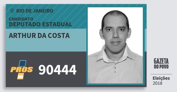 Santinho Arthur da Costa 90444 (PROS) Deputado Estadual | Rio de Janeiro | Eleições 2018