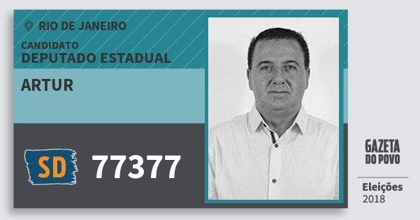 Santinho Artur 77377 (SOLIDARIEDADE) Deputado Estadual | Rio de Janeiro | Eleições 2018
