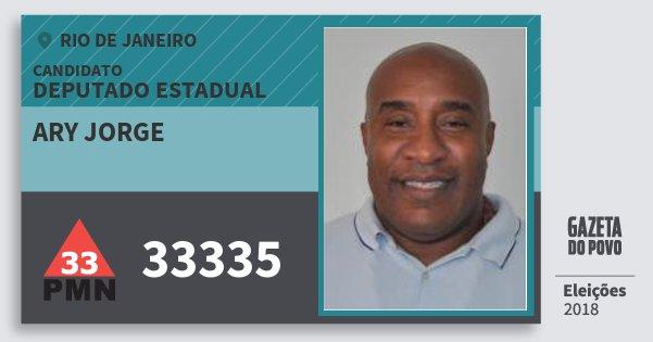 Santinho Ary Jorge 33335 (PMN) Deputado Estadual | Rio de Janeiro | Eleições 2018
