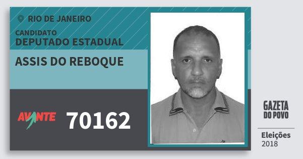 Santinho Assis do Reboque 70162 (AVANTE) Deputado Estadual | Rio de Janeiro | Eleições 2018