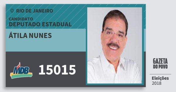 Santinho Átila Nunes 15015 (MDB) Deputado Estadual | Rio de Janeiro | Eleições 2018