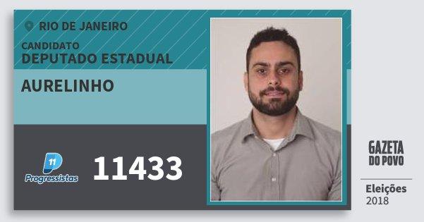 Santinho Aurelinho 11433 (PP) Deputado Estadual   Rio de Janeiro   Eleições 2018