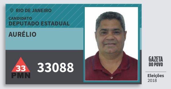 Santinho Aurélio 33088 (PMN) Deputado Estadual | Rio de Janeiro | Eleições 2018