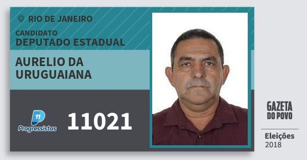 Santinho Aurelio da Uruguaiana 11021 (PP) Deputado Estadual | Rio de Janeiro | Eleições 2018