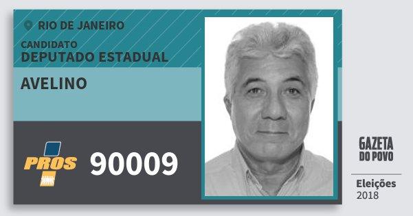 Santinho Avelino 90009 (PROS) Deputado Estadual | Rio de Janeiro | Eleições 2018
