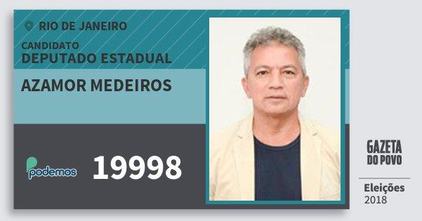 Santinho Azamor Medeiros 19998 (PODE) Deputado Estadual | Rio de Janeiro | Eleições 2018