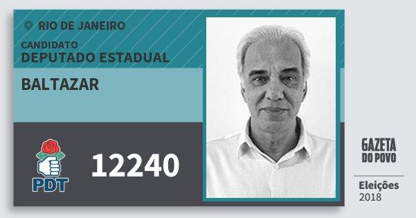 Santinho Baltazar 12240 (PDT) Deputado Estadual | Rio de Janeiro | Eleições 2018