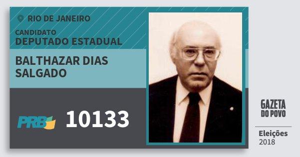 Santinho Balthazar Dias Salgado 10133 (PRB) Deputado Estadual | Rio de Janeiro | Eleições 2018