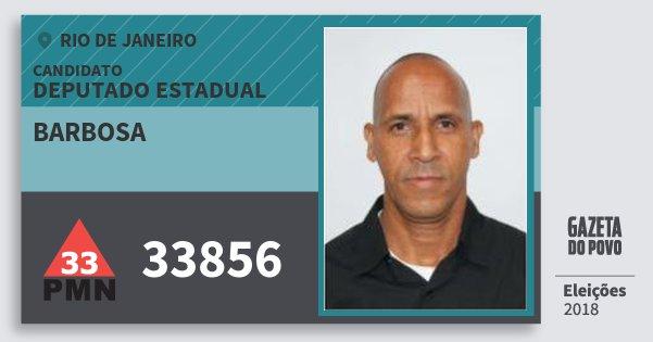 Santinho Barbosa 33856 (PMN) Deputado Estadual | Rio de Janeiro | Eleições 2018