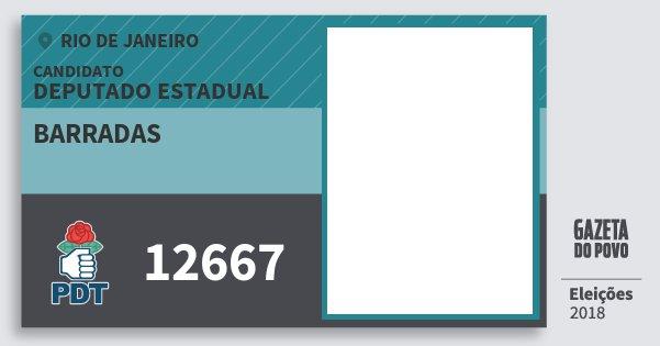 Santinho Barradas 12667 (PDT) Deputado Estadual | Rio de Janeiro | Eleições 2018