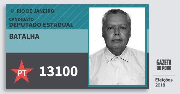 Santinho Batalha 13100 (PT) Deputado Estadual | Rio de Janeiro | Eleições 2018