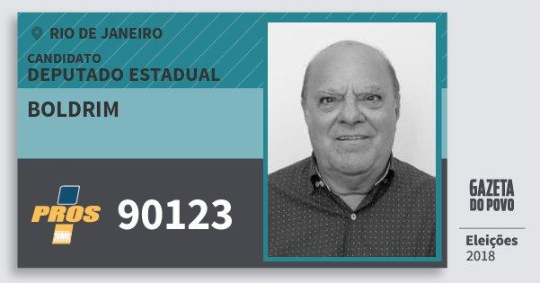 Santinho Boldrim 90123 (PROS) Deputado Estadual | Rio de Janeiro | Eleições 2018