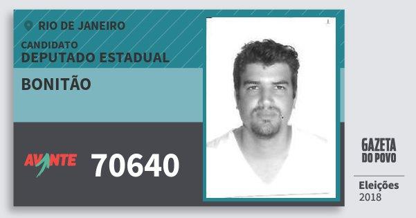 Santinho Bonitão 70640 (AVANTE) Deputado Estadual | Rio de Janeiro | Eleições 2018