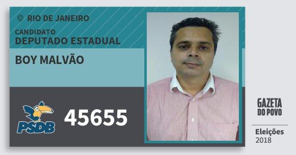 Santinho Boy Malvão 45655 (PSDB) Deputado Estadual | Rio de Janeiro | Eleições 2018