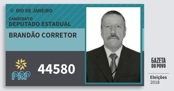 Santinho Brandão Corretor 44580 (PRP) Deputado Estadual | Rio de Janeiro | Eleições 2018