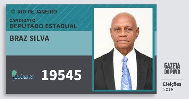 Santinho Braz Silva 19545 (PODE) Deputado Estadual | Rio de Janeiro | Eleições 2018