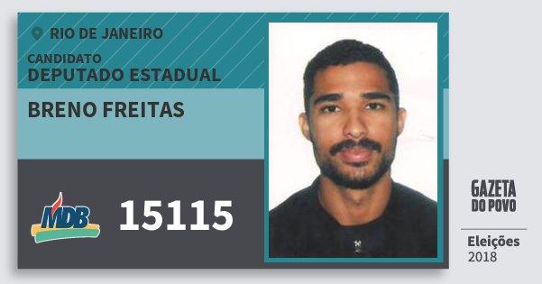 Santinho Breno Freitas 15115 (MDB) Deputado Estadual | Rio de Janeiro | Eleições 2018