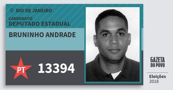 Santinho Bruninho Andrade 13394 (PT) Deputado Estadual | Rio de Janeiro | Eleições 2018