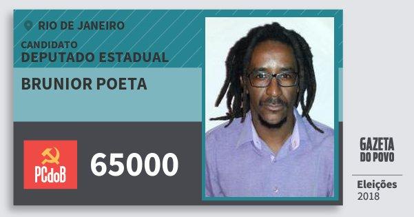 Santinho Brunior Poeta 65000 (PC do B) Deputado Estadual   Rio de Janeiro   Eleições 2018