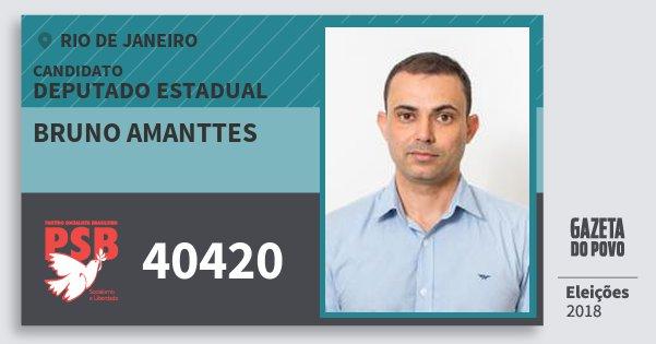 Santinho Bruno Amanttes 40420 (PSB) Deputado Estadual | Rio de Janeiro | Eleições 2018