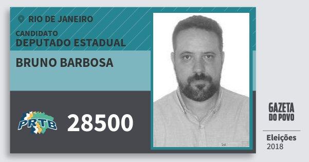 Santinho Bruno Barbosa 28500 (PRTB) Deputado Estadual | Rio de Janeiro | Eleições 2018