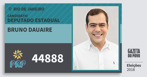 Santinho Bruno Dauaire 44888 (PRP) Deputado Estadual | Rio de Janeiro | Eleições 2018