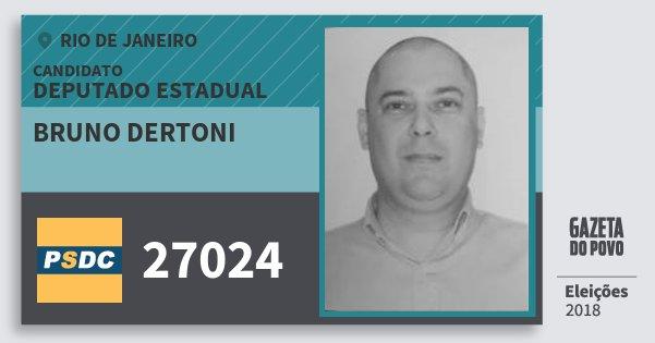 Santinho Bruno Dertoni 27024 (DC) Deputado Estadual | Rio de Janeiro | Eleições 2018