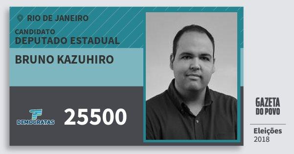 Santinho Bruno Kazuhiro 25500 (DEM) Deputado Estadual | Rio de Janeiro | Eleições 2018