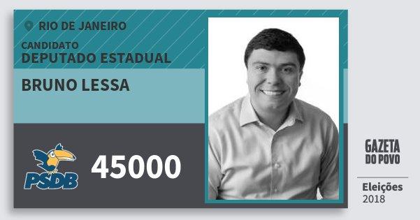 Santinho Bruno Lessa 45000 (PSDB) Deputado Estadual | Rio de Janeiro | Eleições 2018