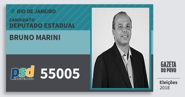 Santinho Bruno Marini 55005 (PSD) Deputado Estadual | Rio de Janeiro | Eleições 2018