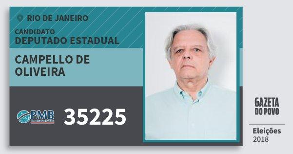 Santinho Campello de Oliveira 35225 (PMB) Deputado Estadual | Rio de Janeiro | Eleições 2018