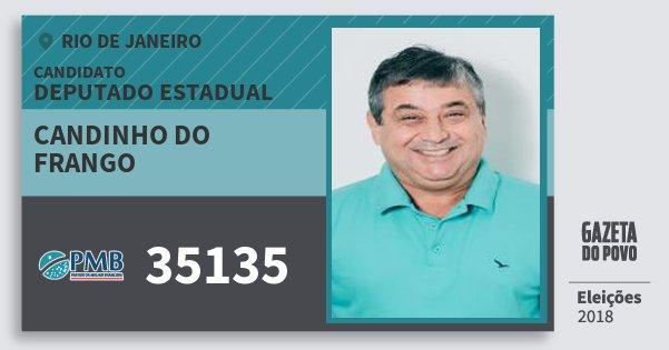 Santinho Candinho do Frango 35135 (PMB) Deputado Estadual | Rio de Janeiro | Eleições 2018