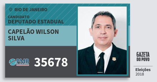 Santinho Capelão Wilson Silva 35678 (PMB) Deputado Estadual | Rio de Janeiro | Eleições 2018