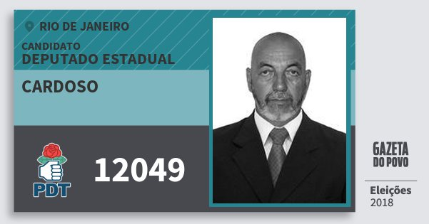 Santinho Cardoso 12049 (PDT) Deputado Estadual | Rio de Janeiro | Eleições 2018