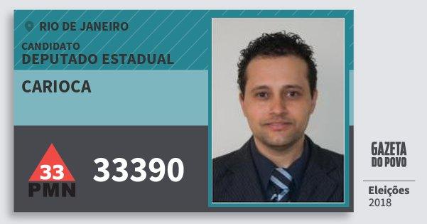 Santinho Carioca 33390 (PMN) Deputado Estadual | Rio de Janeiro | Eleições 2018
