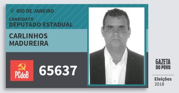 Santinho Carlinhos Madureira 65637 (PC do B) Deputado Estadual | Rio de Janeiro | Eleições 2018