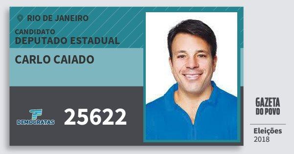 Santinho Carlo Caiado 25622 (DEM) Deputado Estadual | Rio de Janeiro | Eleições 2018