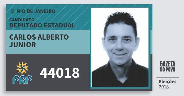 Santinho Carlos Alberto Junior 44018 (PRP) Deputado Estadual | Rio de Janeiro | Eleições 2018